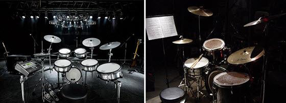 барабаны на сцене