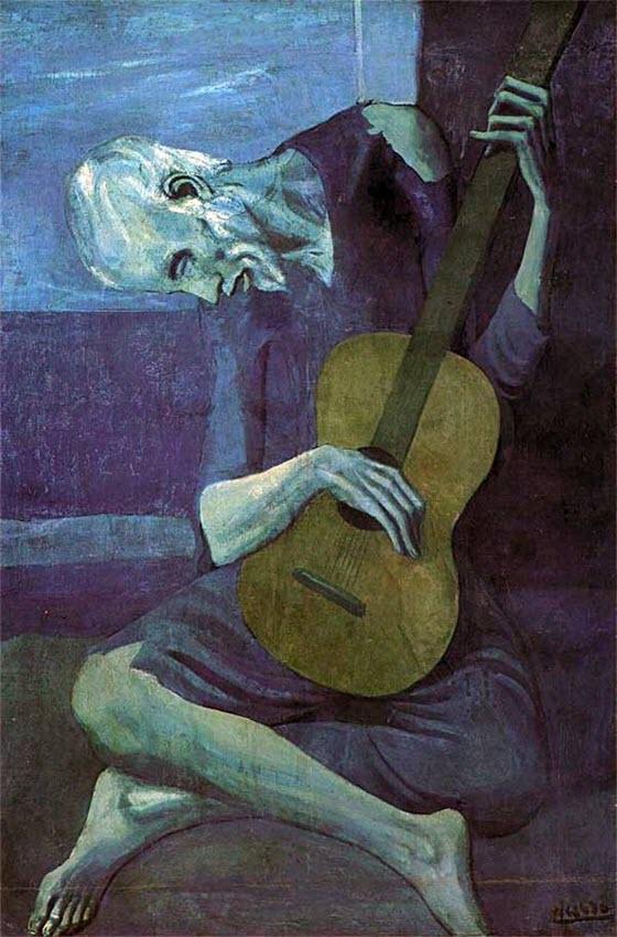 Пикассо старый гитарист