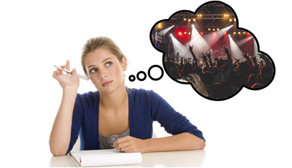 студент и музыка