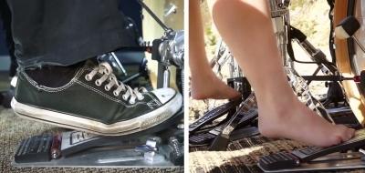 Как лучше играть на барабанах: в обуви или без?